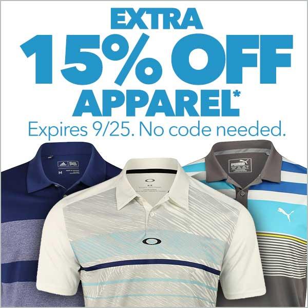 Extra 15% Off Apparel