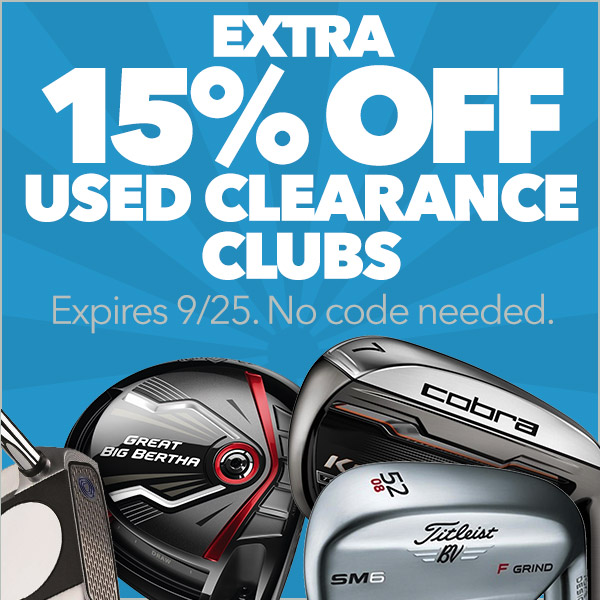 Extra 15% Off Used Clearance Clubs