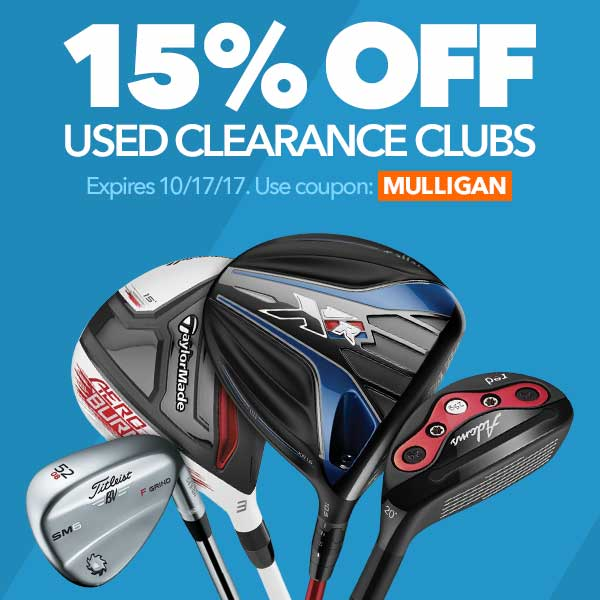 15% Off Used Clearance Clubs