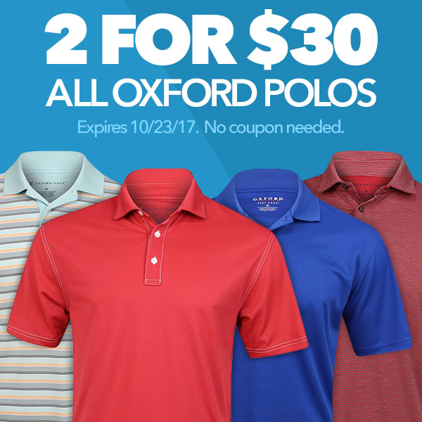 All Oxford Polos - 2 For $30