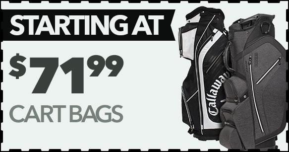 Cart Bags Starting At $71.99
