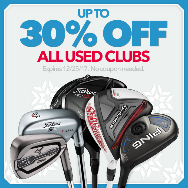 Up To - 30% Off Used Clubs