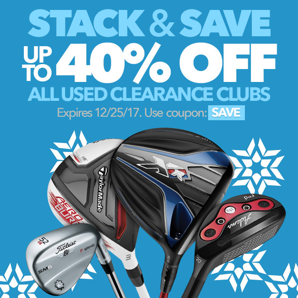 Stack & Save - Up To 40% Off All Used Clearance Clubs