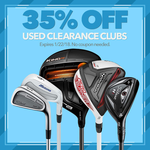 35% Off Used Clearance Clubs