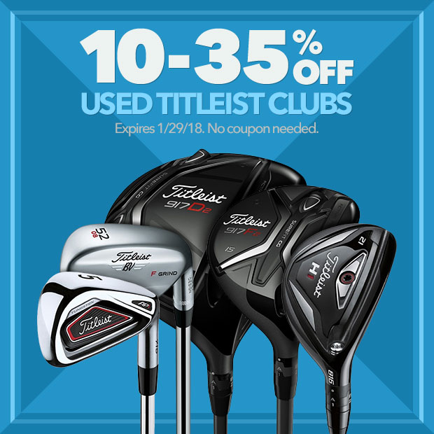10-35% Off Used Titleist Clubs