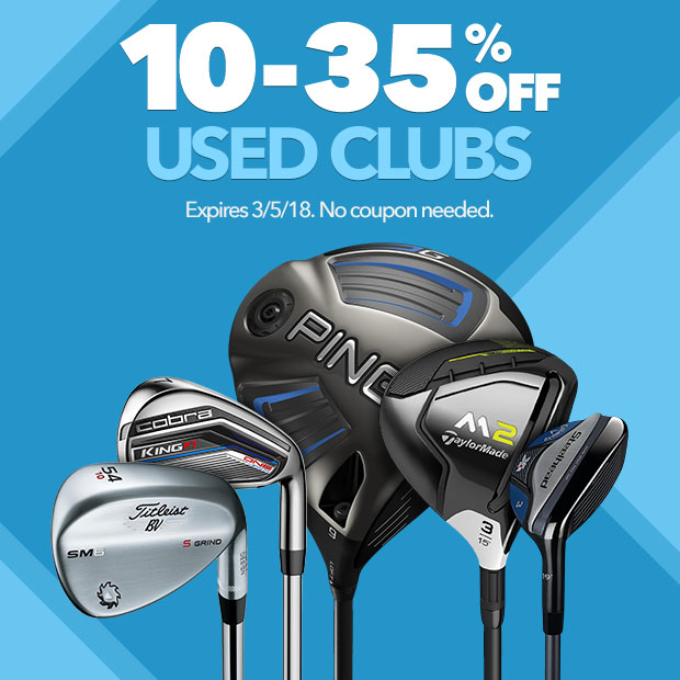 10-35% Off Used Clubs