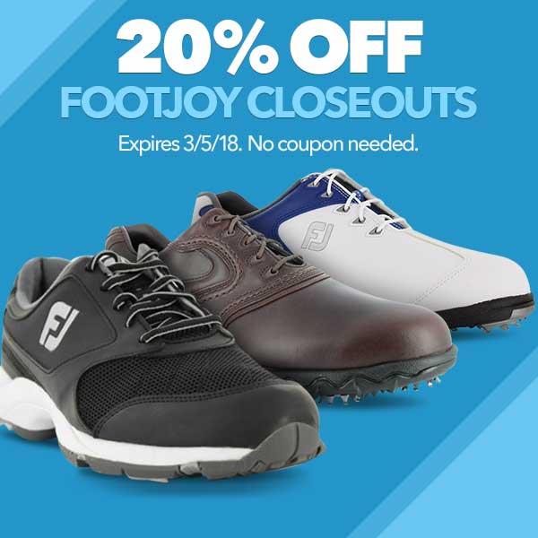 20% Off FootJoy Closeouts