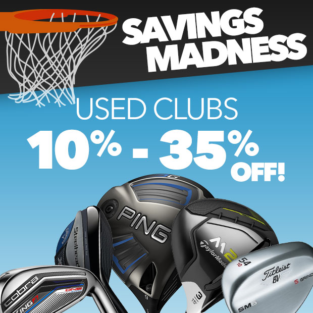 Savings Madness: 10-35% Off Used Clubs