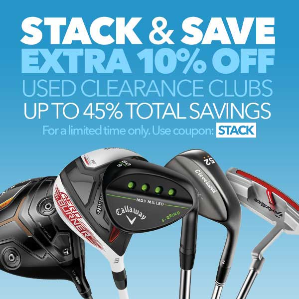 Stack and Save: Extra 10% Off Used Clearance Clubs