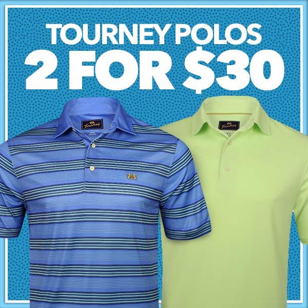 Tourney Polos 2 for $30