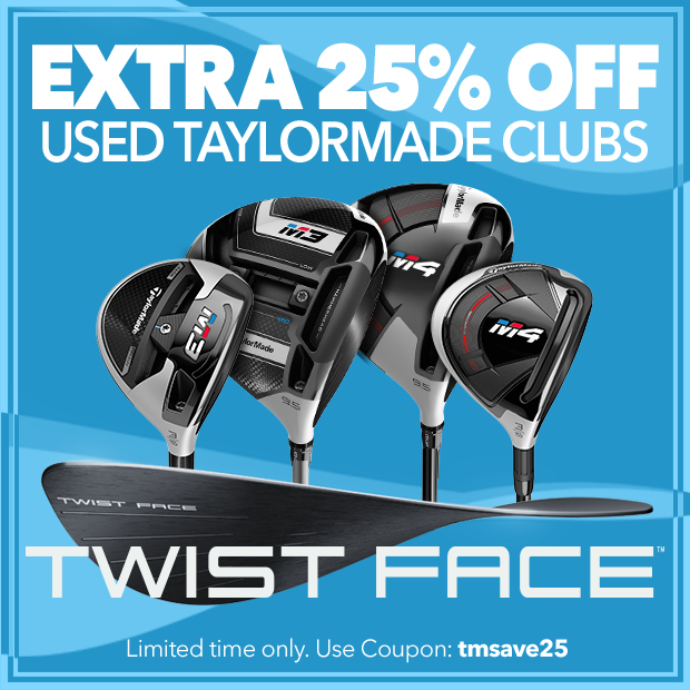 Extra 25% Off Used TaylorMade Clubs