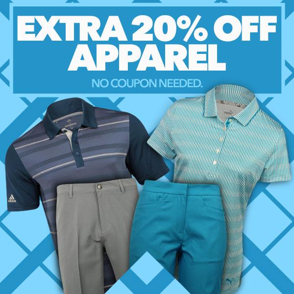 Extra 20% off Apparel