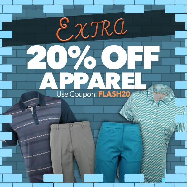Extra 20% off Golf Apparel   Use Code: FLASH20