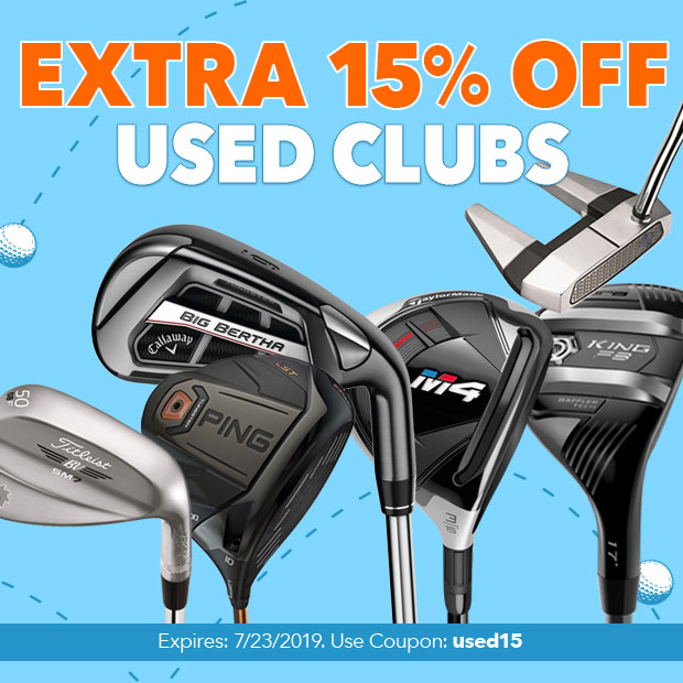 15% Off Used Clubs