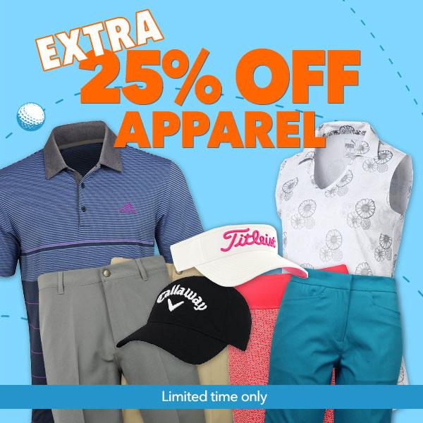 Get an Extra 25% off Golf Apparel