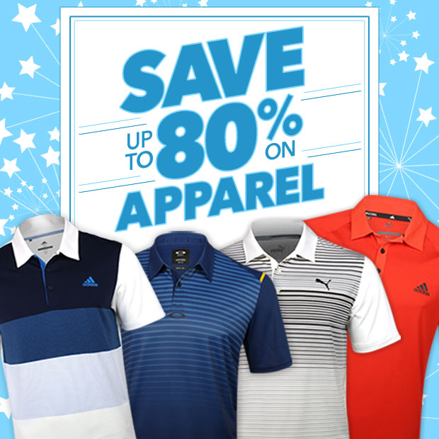 Save up to 80% on Apparel