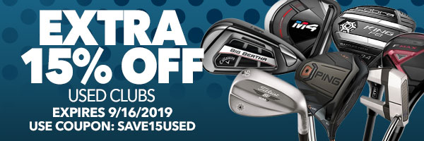 Extra 15% Off Used Clubs with code: save15used