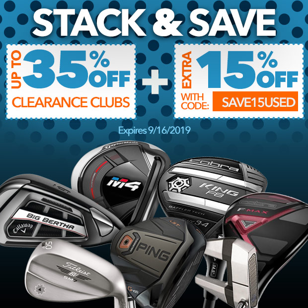 Up to 35% Off Clearance Clubs Plus Extra 15% Off with code: save15used
