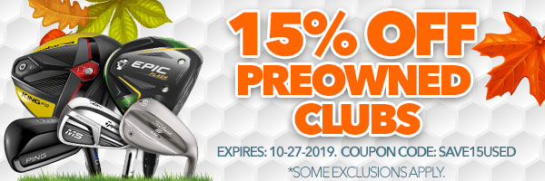 15% Off Preowned with code: save15used. Expires October 27, 2019.