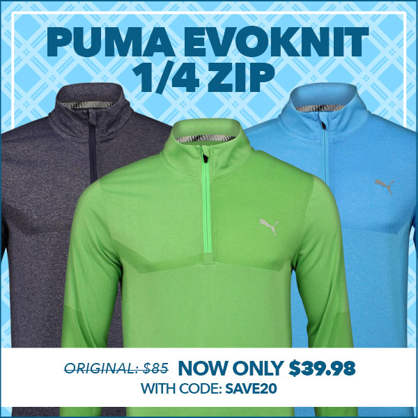 Puma EVOKNIT 1/4 Zip-Only $39.98 With code SAVE20NOW