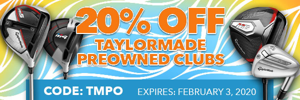 20% Off TaylorMade Preowned with Code: tmpo20
