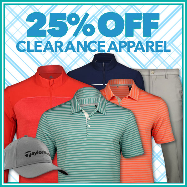 25% Off Clearance Apparel