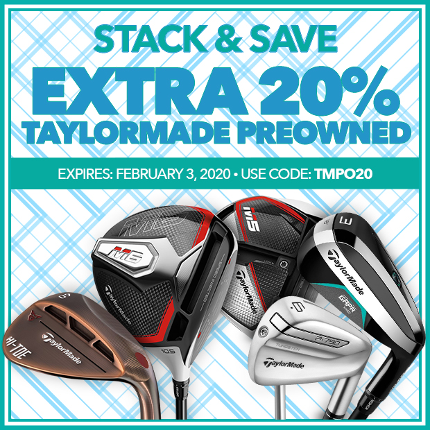 Extra20% Off TaylorMade Preowned with Code: tmpo20