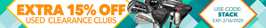 Extra 15% Off Used Clearance Clubs with Code: Stack