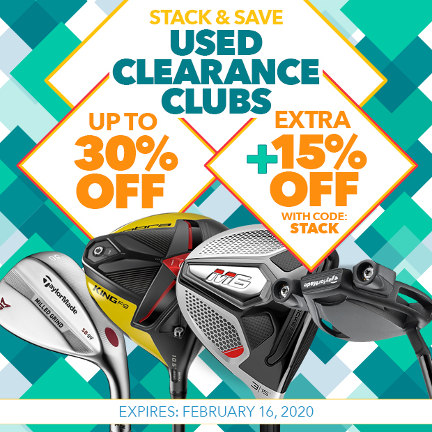 Up to 30% Off Used Clearance Clubs PLUS Extra 15% Off with Code: Stack