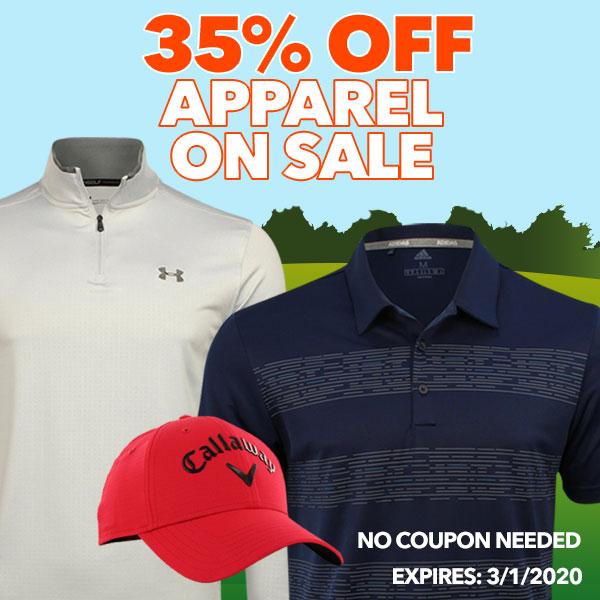 35% Off Apparel on Sale