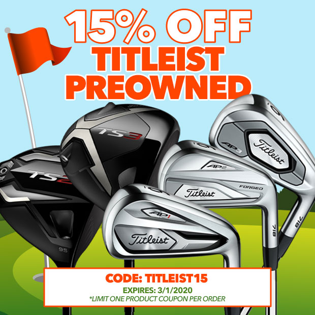 15% Off Titleist Preowned with Code: Titleist15