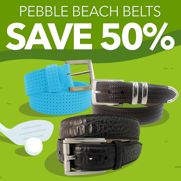 Pebble Beach Belts Save 50%
