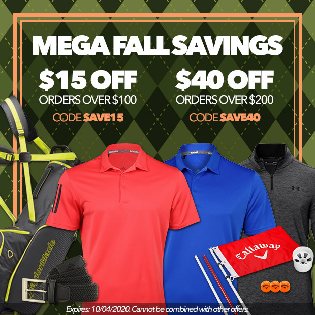 Mega Fall Savings - $15 off orders over $100 with code SAVE15, $40 off orders over $200 with code SAVE40. Expires: 10/04/2020. Cannot be combined with other offers.