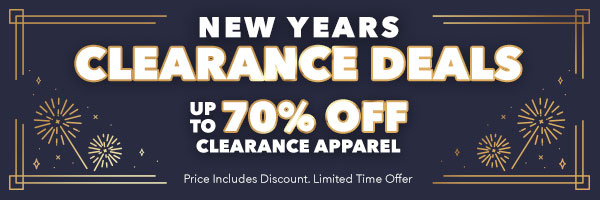New Years Clearance Deals - Up To 70% Off Clearance Apparel