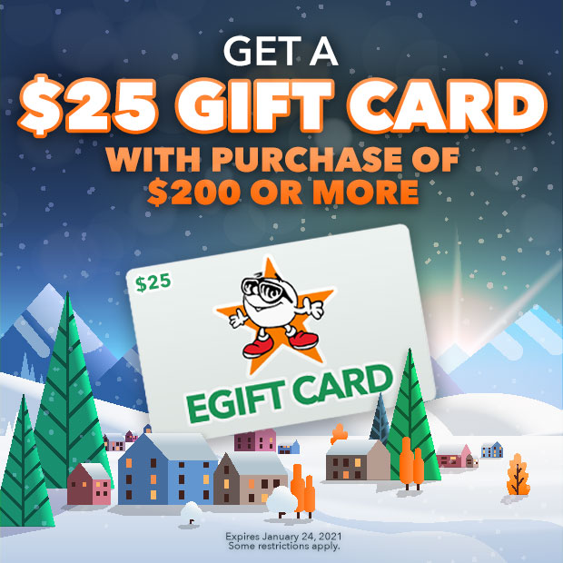 Get a $25 Gift Card With a Purchase of $200 or More