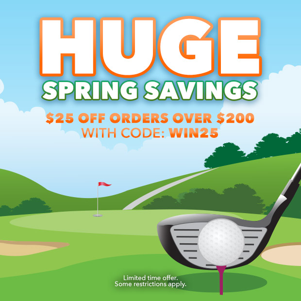 Huge Spring Savings | $25 Off Orders Over $200 with Code: WIN25
