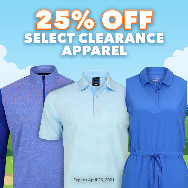 25% Off Select Clearance Apparel