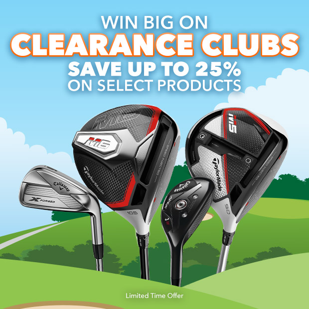 Win Big on Clearance Clubs | Save up to 25% on Select Products