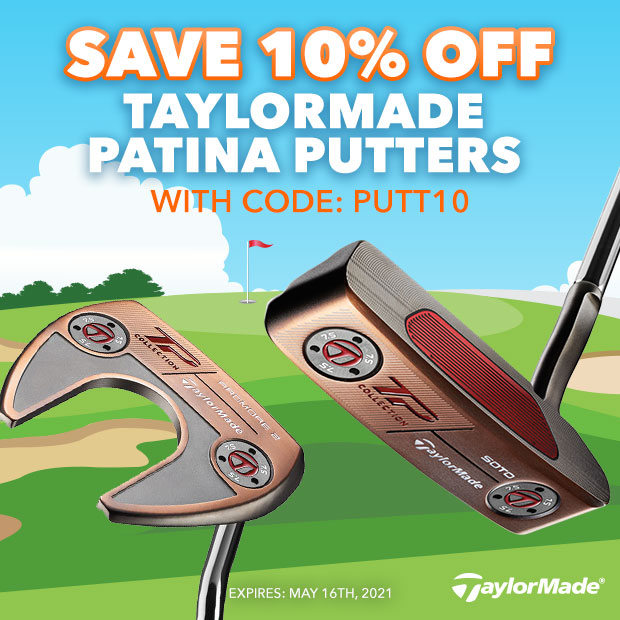 Save 10% off TaylorMade Patina Putters with code: PUTT10