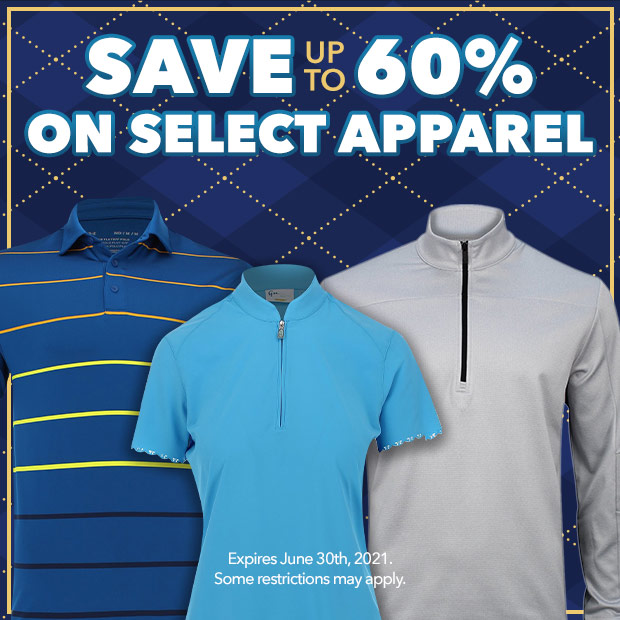 Save up to 60% on Select Apparel