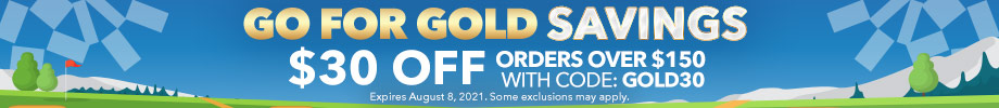 Go For Gold Savings | $30 off orders over $150 with code: GOLD30