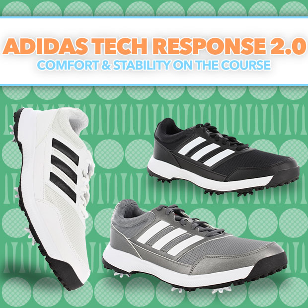 Adidas Tech Response 2.0 Golf Shoes  - Comfort and Stability on the Course
