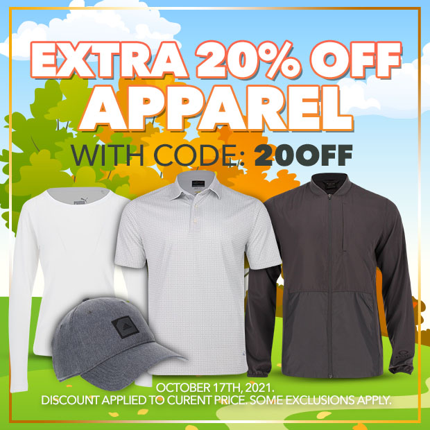 Extra 20% off Apparel with code: 20OFF - Expires: October 17th, 2021.