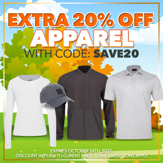 Extra 20% off Apparel with code: SAVE20 - Expires: October 24th, 2021.