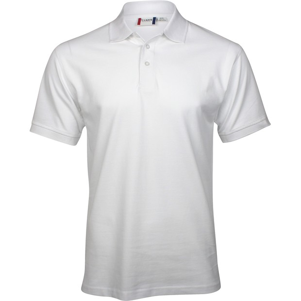 Clique by cutter buck lincoln polo shirt white size for Cutter buck polo shirt size chart