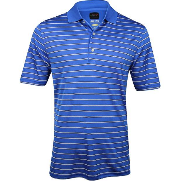 Greg norman ml75 micro lux stripe polo shirt maritime for Greg norman ml75 shirts