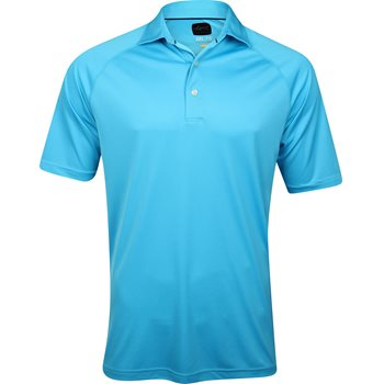 Greg norman ml75 micro lux solid polo shirt cerulean for Greg norman ml75 shirts
