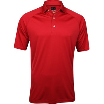 Greg norman ml75 micro lux solid polo shirt british red for Greg norman ml75 shirts