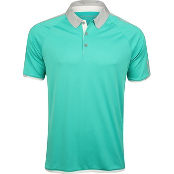 Adidas climachill 3 stripes competition polo shirt shock for Mint color polo shirt