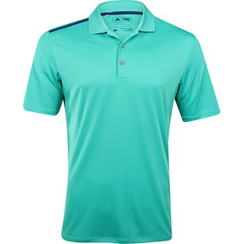 Adidas climacool 3 stripe polo shirt shock mint mineral for Mint color polo shirt